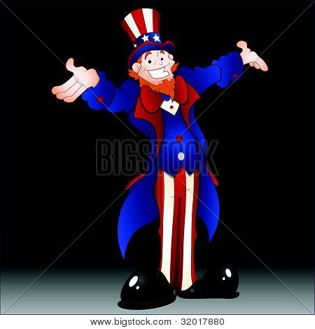 Happy Uncle Sam Vector Illustration