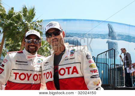 LOS ANGELES - APR 14:  Hill Harper, Eddie Cibrian at the 2012 Toyota Pro/Celeb Race at Long Beach Grand Prix on April 14, 2012 in Long Beach, CA.