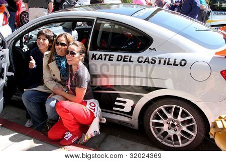 LOS ANGELES - APR 14:  Kate del Castillo, sister Veronica del Castillo, nephew at the 2012 Toyota Pro/Celeb Race at Long Beach Grand Prix on April 14, 2012 in Long Beach, CA.