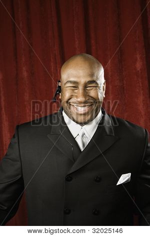 Bouncer smiling