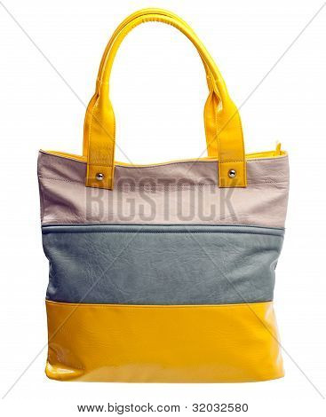 Fashion women bag over white, with clipping path