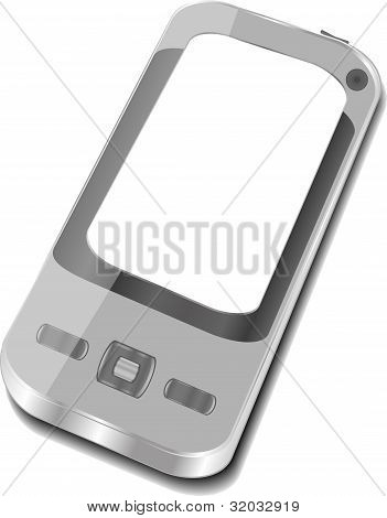 3d smartphone iphone on white background. Iphone