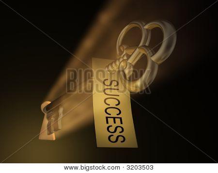 Goldend llave y cerradura