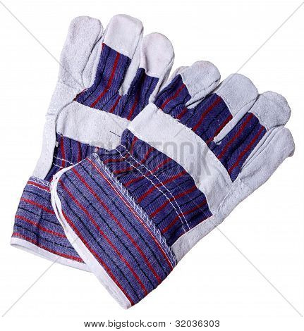Heat Resistant gloves For welding of Plastic Pipes, Isolated on A White background.