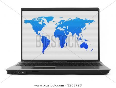 Notebook With World Map