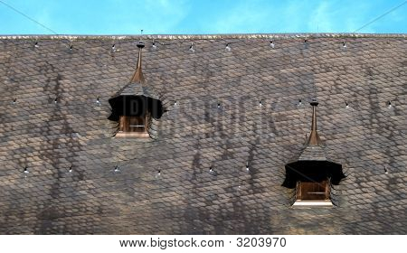 Roof Of Town Hall, Lubek, Germany