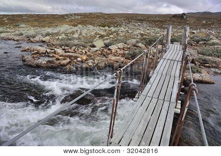 The Bridge over a river, Hardangervidda, Norway
