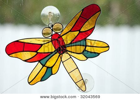 Leaded Glass Dragon Fly