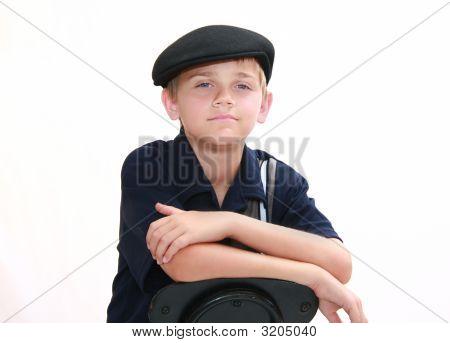 Portrait Of Boy In Blue