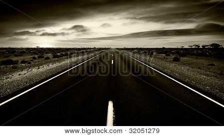 Dark and gloomy road