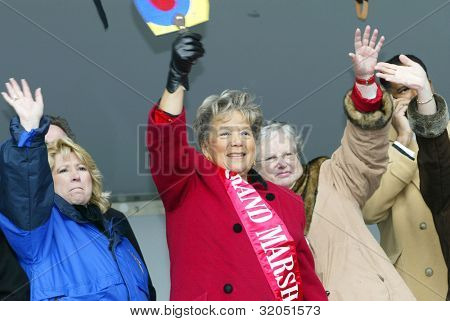 FLUSHING, NY - FEB 12: Queensboro President Helen Marshall celebrates as she participates in the Chinese New Year Parade on February 12, 2005 in Flushing, New York.