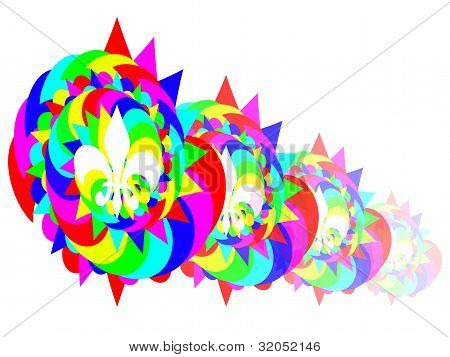Colourful snail