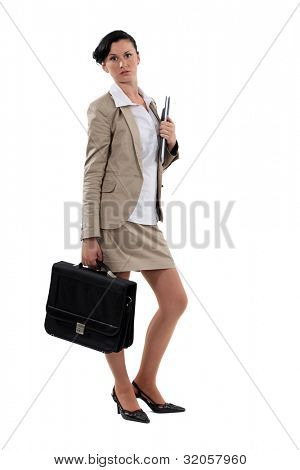 Portrait of a chic businesswoman