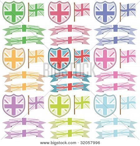 Uk Shields And Ribbons