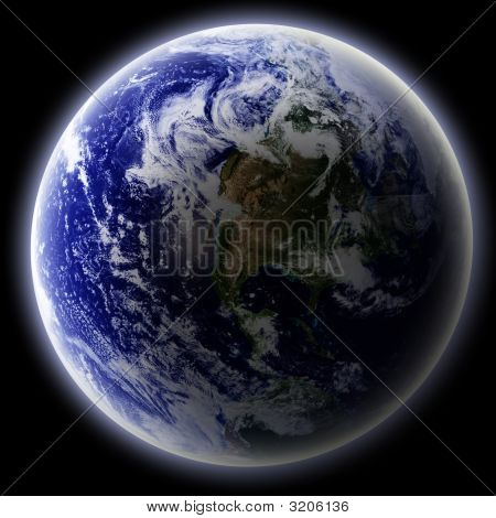 Earth As Seen From Outer Space