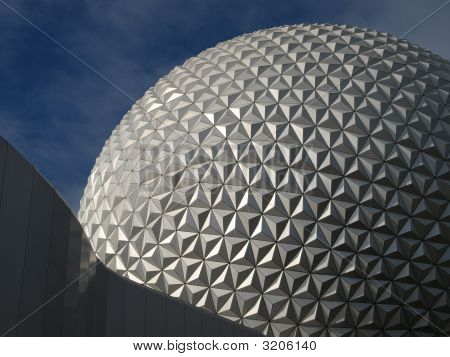 Close-Up Of A Geodesic Dome