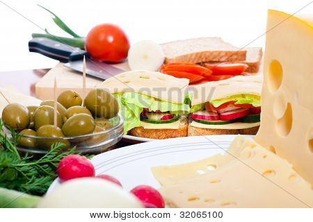Cheese Sandwich Preparation