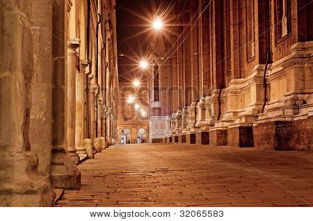 Old City Street At Night