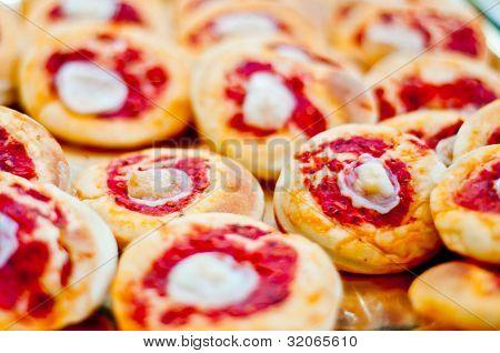 kleine Pizzen. pizzete