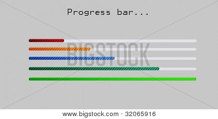 colorful shiny progress bar