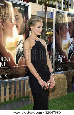 LOS ANGELES - APR 16: Taylor Schilling at the premiere of Warner Bros. Pictures' 'The Lucky One' at Grauman's Chinese Theatre on April 16, 2012 in Los Angeles, California