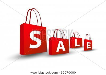 Vector sale shopping bags