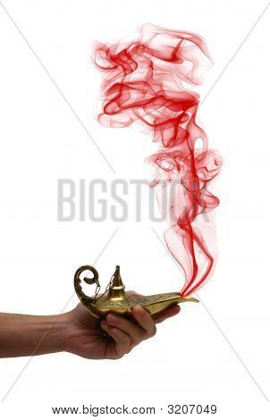 Holding A Magic Lamp