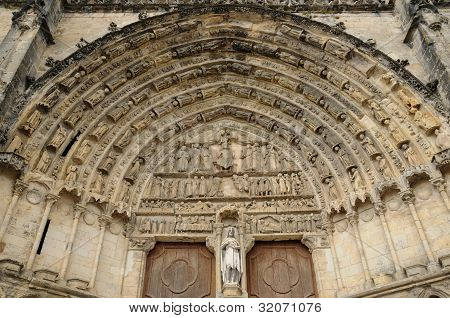 France, The Cathedral Of Bazas In Gironde