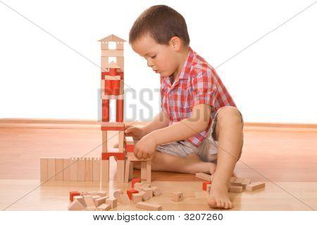 Building A Wooden Block Castle