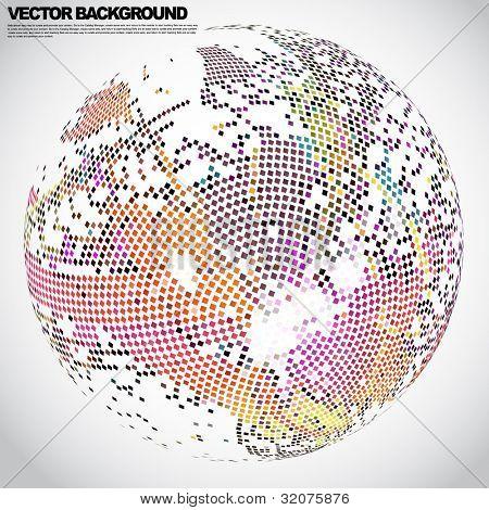 mosaico de Vector