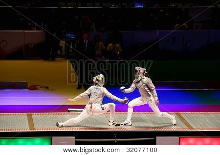 Russia-Ukraine final match at 2012 World Fencing Championships