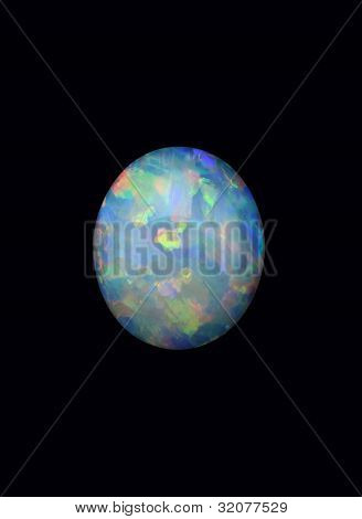 Opal On A Black Background