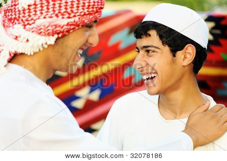 Two brothers, two arabic young people
