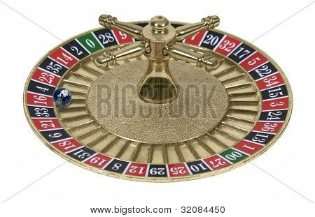 Roulette Wheel And Globe