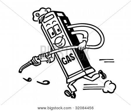 Mister Gas Pump - Retro Clipart Illustration