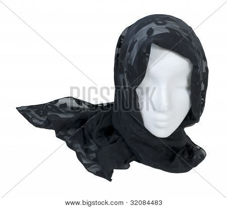 Wearing A Lacey Black Scarf