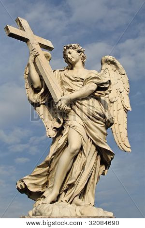 Angel with the Cross in Rome.