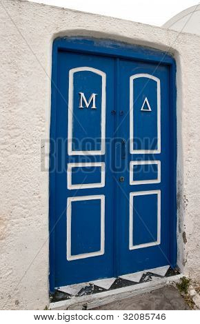 Blue Closed Door