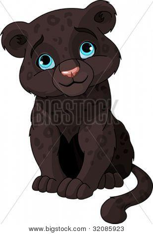 Lindo cachorro de pantera negra