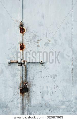 Locked Metal Door or Gate
