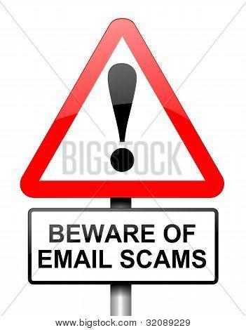 Concepto de estafa de correo electrónico.