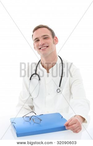 Friendly General Practitioner With Patient Records