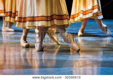 ballet dancers in slippers