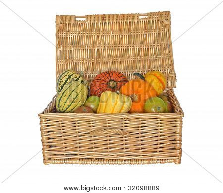 Hamper with seasonal Squash