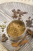 foto of garam masala  - Brown Indian spices - JPG