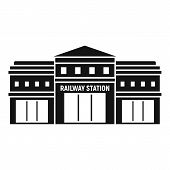 Railway Station Icon. Simple Illustration Of Railway Station Vector Icon For Web Design Isolated On  poster