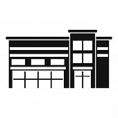 Commercial Mall Icon. Simple Illustration Of Commercial Mall Vector Icon For Web Design Isolated On  poster