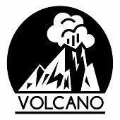 Volcano Lava Logo. Simple Illustration Of Volcano Lava Vector Logo For Web Design Isolated On White  poster