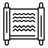 Ancient Egyptian Monuscript Icon. Outline Ancient Egyptian Monuscript Vector Icon For Web Design Iso poster