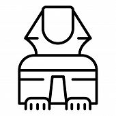 Egyptian Sphinx In Front Icon. Outline Egyptian Sphinx In Front Vector Icon For Web Design Isolated  poster